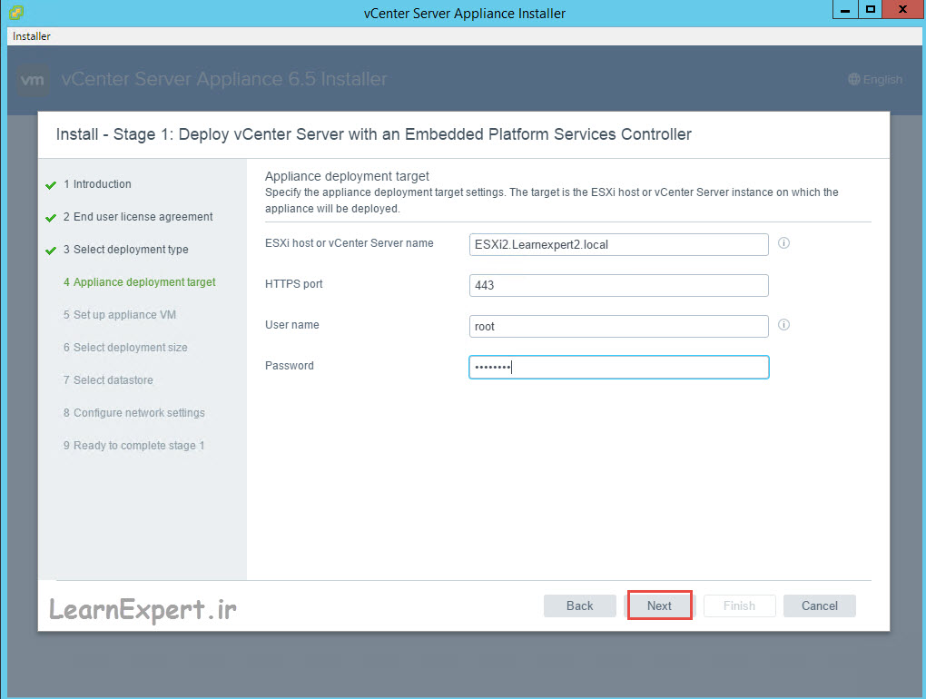 vcenter 6.5 installation 9