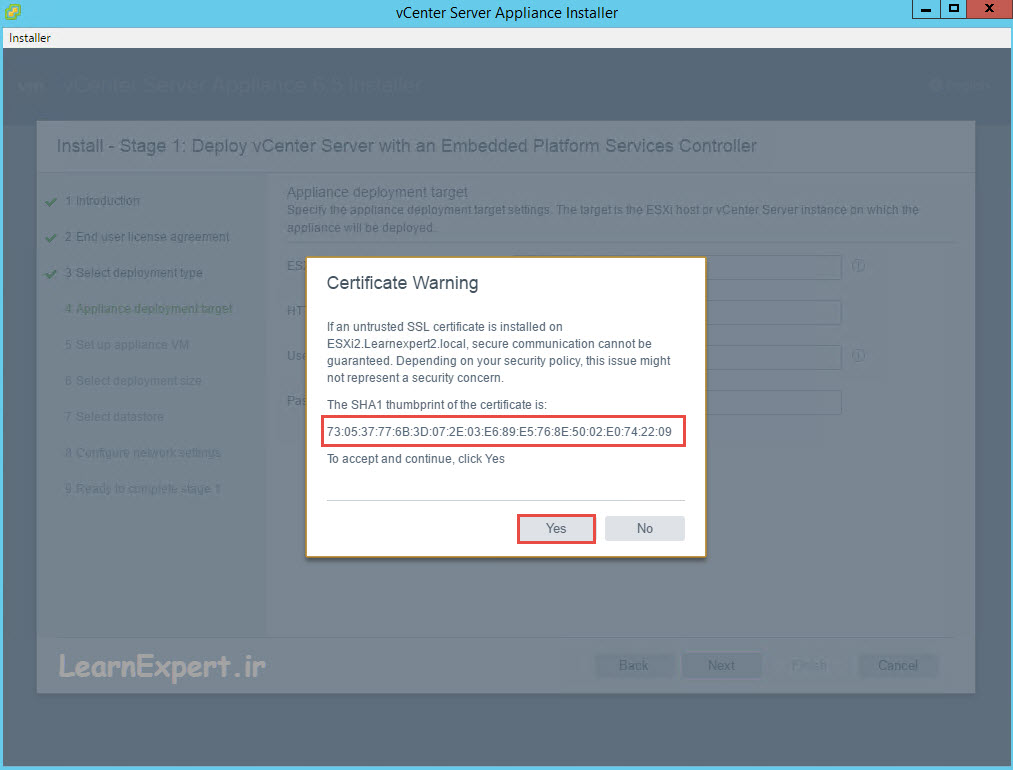 vcenter 6.5 installation 10