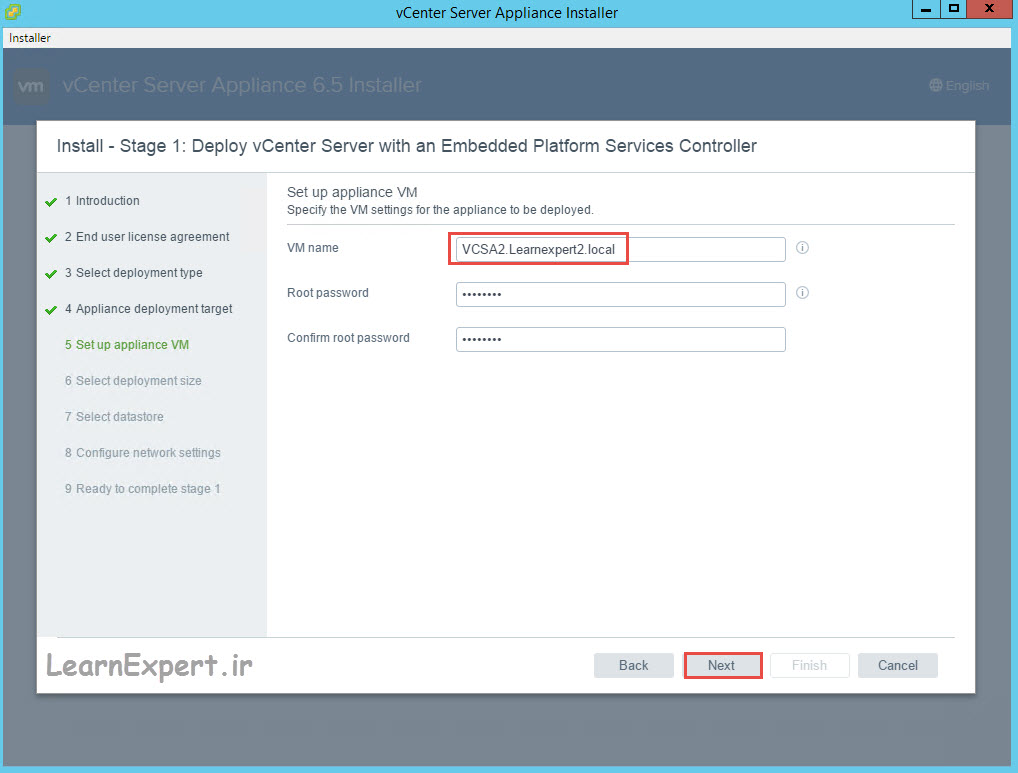 vcenter 6.5 installation 11