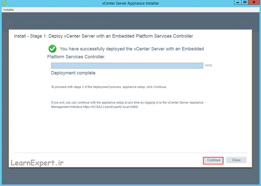 vcenter 6.5 installation 19